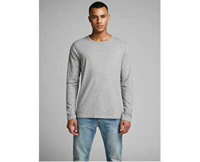 T-shirt da uomo JJEBASIC 12059220 LIGHT GREY MELANGE