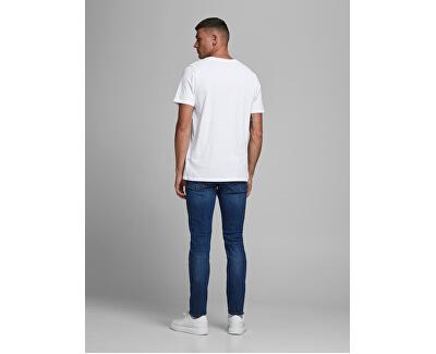 T-shirt da uomo JJEORGANIC BASIC 12156101 White SLIM