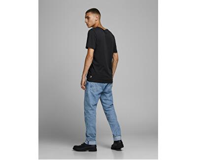 Herren T-Shirt JJEORGANIC BASIC TEE 12156101 Black SCHLANK