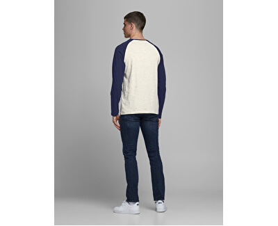 T-shirt da uomo JJERAGLAN LOGO TEE 12172365 Navy Blazer