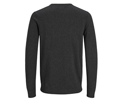 Pánsky sveter JJEBASIC 12137190 Dark Grey Melange