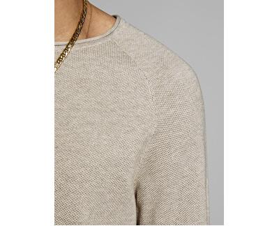 Maglione da uomo  JJEHILL 12157321 Oatmeal Melange