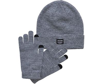 Pánská sada čepice a rukavic JACBEANIE & GLOVE 12168383 Grey Melange