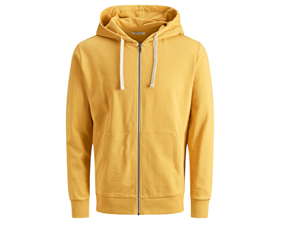 Hanorac pentru bărbați  JJEHOLMEN SWEAT ZIP HOOD NOOS Yolk Yellow REG FIT
