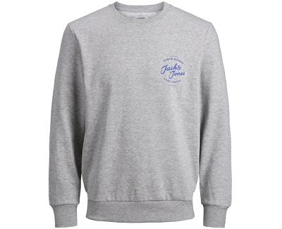 Herren Sweatshirt JJHERO 12175064 Hellgrau Melange
