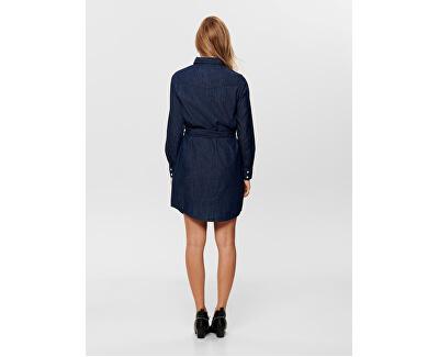 Dámske šaty JDYESRA LIFE 15159310 Dark Blue Denim