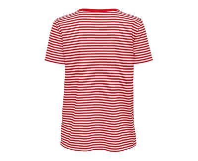 Dámské triko JDYCITY 15200854 High Risk Red PARDON_EMB