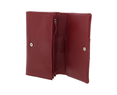 Damen Leder Geldbörse 51455 Rot