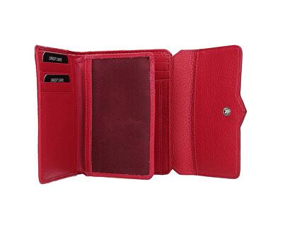 Damen Leder Brieftasche 51623 Himbeere