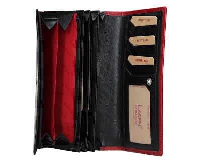 Dámska kožená peňaženka BLC-4228 Blk/Red