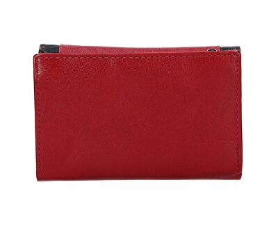 Damen Leder Geldbörse Rot / BLK