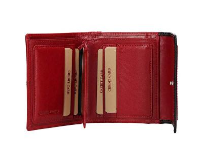 Damen Geldbörse aus Leder BLC-4391 Red/BLK