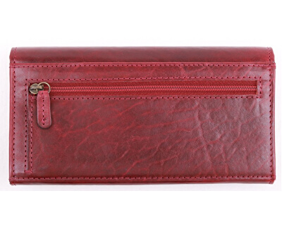 Damen Lederbrieftasche 1/B Red
