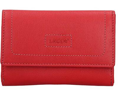 Damen Leder Geldbörse Red