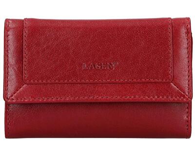 Damen Lederbrieftasche 1/ Red/Red