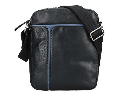 Pánska kožená taška 25919 Blk / Blue