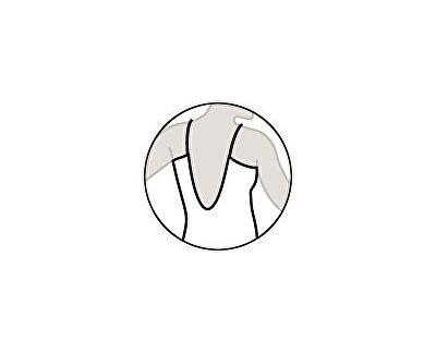 Dámské jednodílné plavky bandeau s košíčky 63408