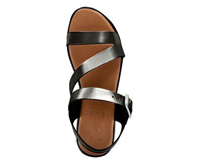 Dámské kožené sandále 1312L/TA-61 Lam. Antracita