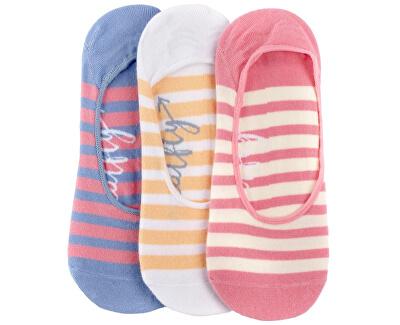 3 PACK - Low socks S19 D/Big Stripes női zokni