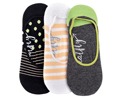 3 PACK - Low socks S19 H/ Anthracite női zokni