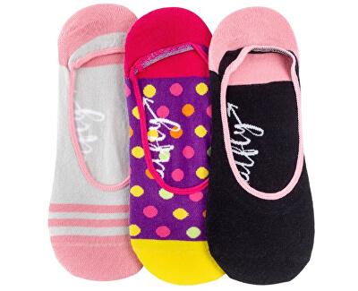 3 PACK - női zokni   Low socks S19 N/Pink