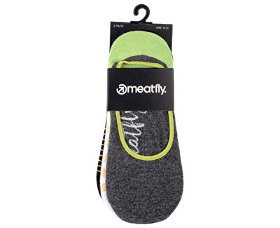 3 PACK - Low socks S19 H/ Anthracite női zokni