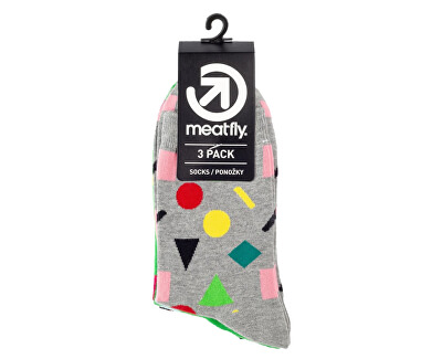 3 PACK - zokni Multi Shape socks S19 Multipack