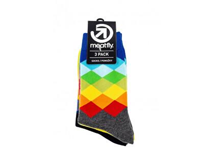3 PACK - ponožky Pixel