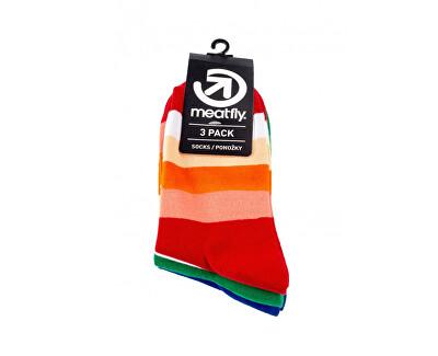 3 PACK - ponožky Stripes Shades socks S19 Multipack