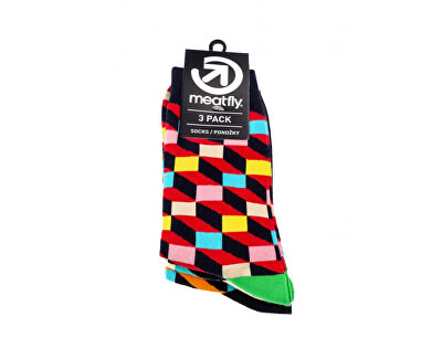 Set von Herren Socken 3D Checkers socks S19 pack