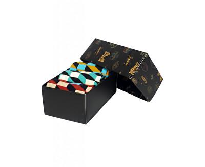 3 PACK - ponožky 3D Checkers