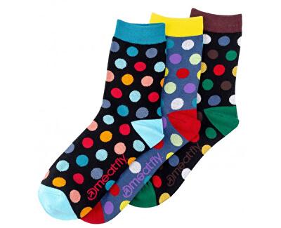 3 PACK - ponožky Dark Regular Dots socks S19 Multipack