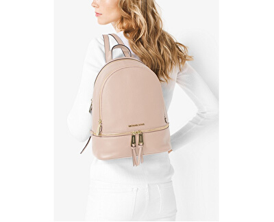 Dámský kožený batoh RHEA ZIP 30S5GEZB1L187 Soft Pink