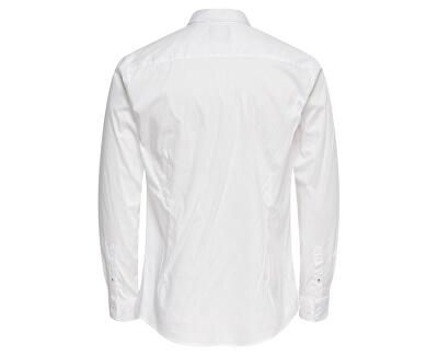 Cămașă pentru bărbați ONSENRICO LS STRETCH SHIRT White