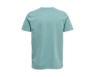 Pánské triko ONSCALM SLIM SS TEE Mineral Blue