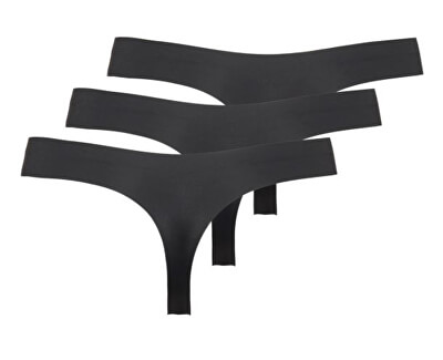 3 PACK - dámská tanga ONLTRACY 15211630 Black