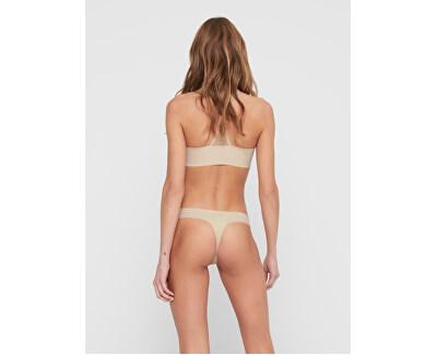 3 PACK - dámská tanga ONLTRACY 15211630 Nude