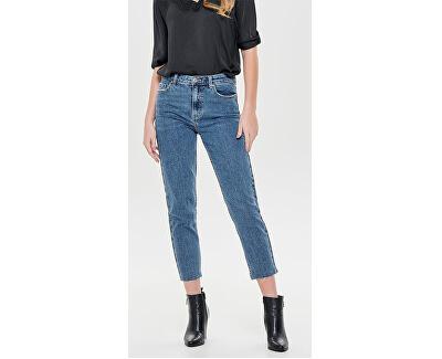 Dámske straight fit džínsy ONLEMILY 15171549 Dark Denim Blue