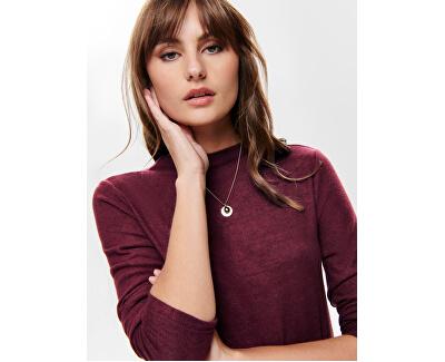ONLKLEO L / S DRESS KNT NOOS Port Tawny pentru femei