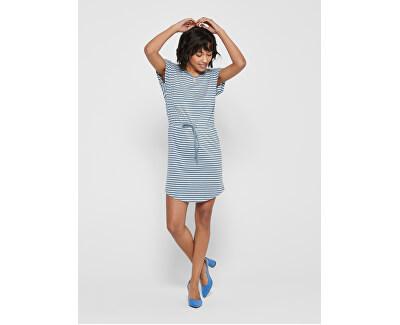 Dámské šaty ONLMAY 15153021 Blue Mirage THIN STRIPE CLOUD DANCER