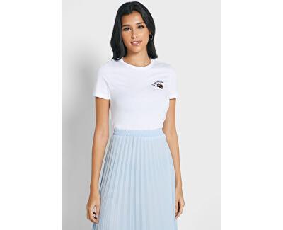 T-shirt da donna ONLKITA VITA REG S / S BEE TOP BOX CO JRS Bright White QUEEN