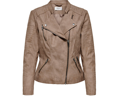 Jachetă de damă ONLAVA FAUX LEATHER BIKER OTW NOOS Woodsmoke