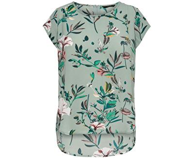 Damen Bluse ONLVIC 15161116 Granite DIDA FLOWER