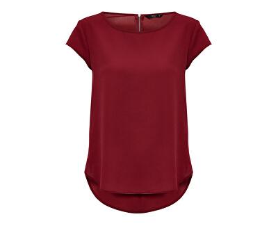 Bluză de femei Vic S / S Solid Top Noos Wvn Merlot