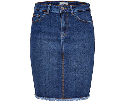 Dámská sukně ONLELIZA LIFE 15159611 Medium Blue Denim