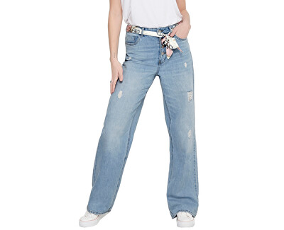 Dámské wide straight fit džíny ONLMOLLY 15195733 Light Blue Denim