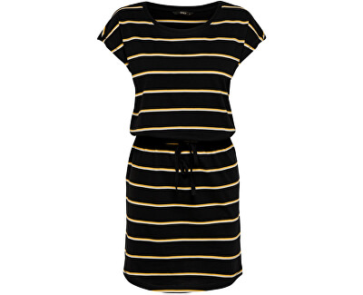 Dámské šaty ONLMAY 15153021 Black DOUBLE YOLK YELLOW/CLOUD DANCER