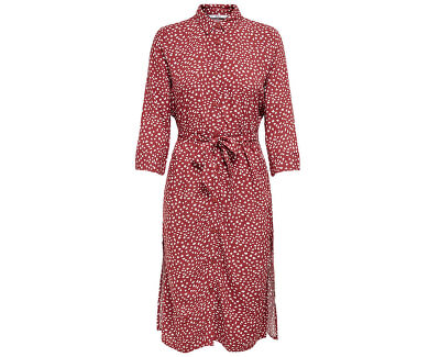 Dámské šaty ONLNOVA LONG SHIRT DRESS AOP WVN Apple Butter SPRING DOT
