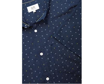 Pánská košile 47.004.22.4710.58A0 Mood indigo/aqua g