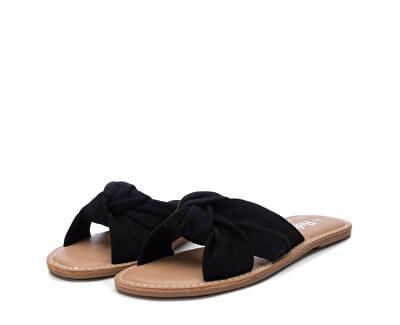 FrauenschuheBlack Microfiber Ladies Sandals 69687 Black